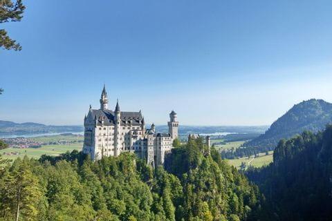 Schloss Neuschwanstein am Lechweg nahe Füssen
