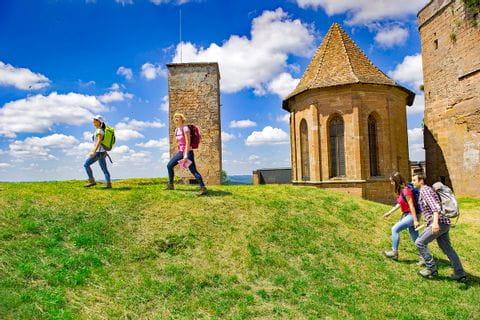 Beautiful walks past medieval castles