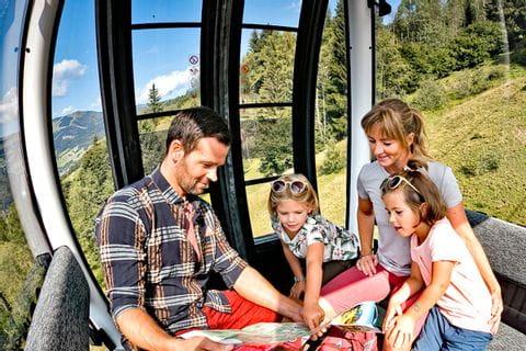 Cable car ride in Pinzgau
