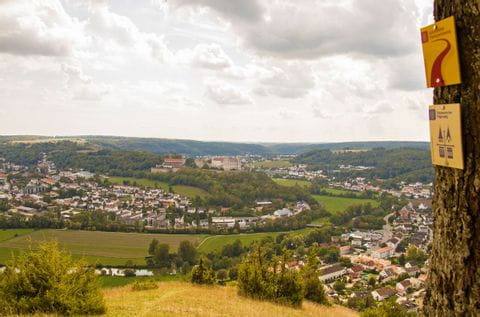 Stadtpanorama am Wanderweg im Altmühltal