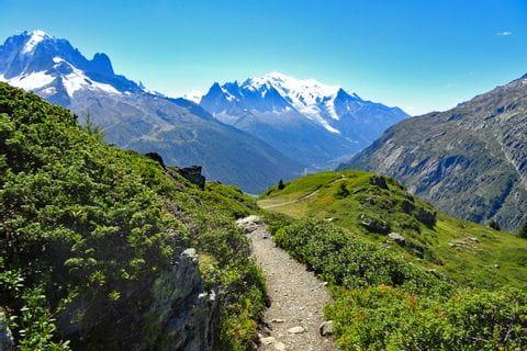 Wonderful mountain landscape in the Mont Blanc region
