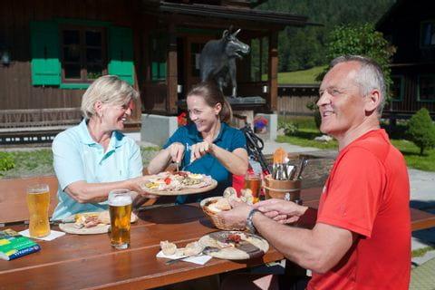 Regional specialities at the Blaa alp in Ausseerland region