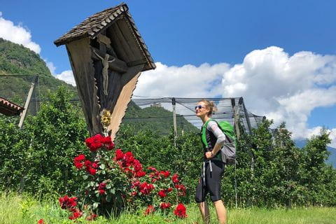 Hiker in the region of Bolzano