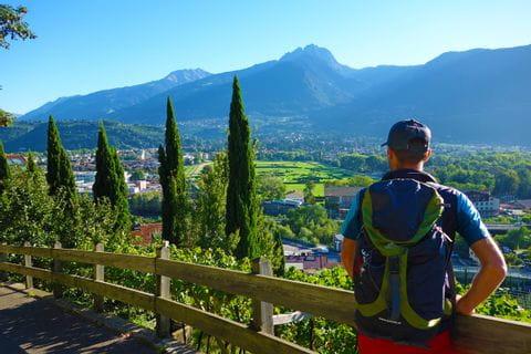 Panoramasicht über Südtirol