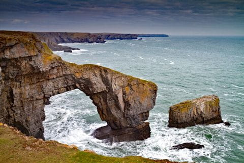 See arch in Pembrokeshire Wales