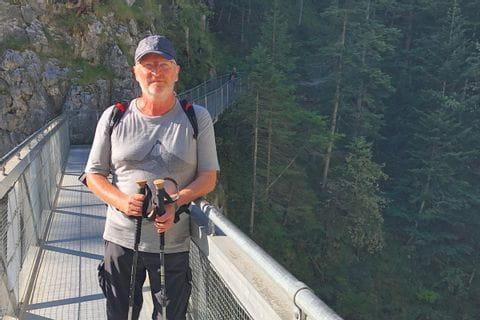 Herr Osvin Nöller auf der Wanderreise rund um die Zugspitze