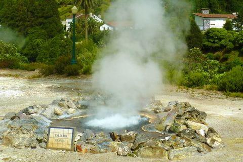 Heiße Quellen in Sao Miguel