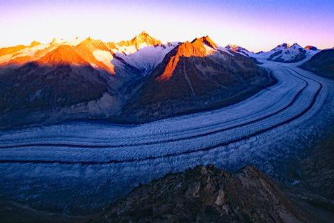 Impressive Aletsch Glacier