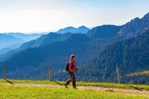 Great views while mountain hiking to Füssen