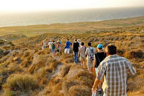 Romantic paths in Santorini
