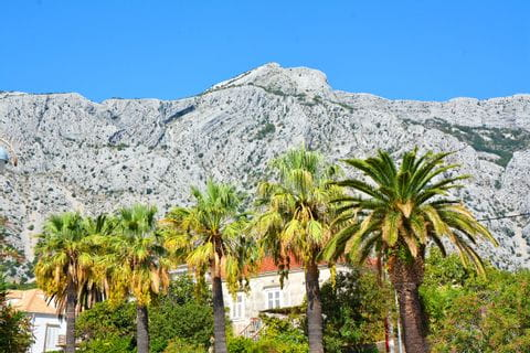 Croatian mountains on an island