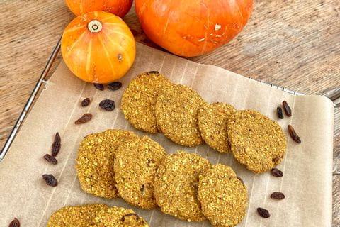 Recipe for pumpkin cookies with hokkaido