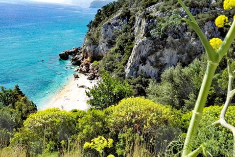 Picturesque costal views in Sardinia