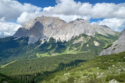 View of the Zugspitze, hiking paradise