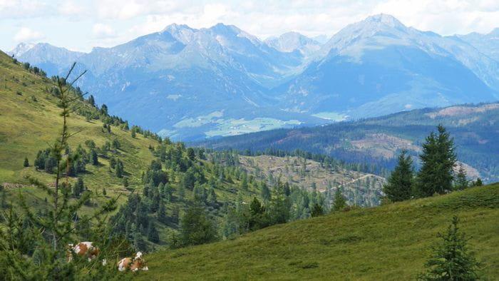 Impressionen von der Berglandschaft auf der Sonnseitn Tour