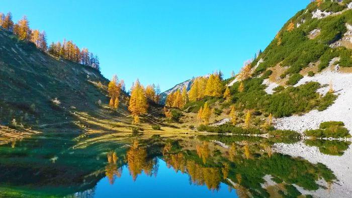 Bergsee Tauplitz im Herbst