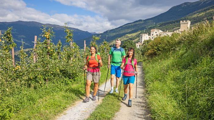Wandern im herbstlichen Südtirol